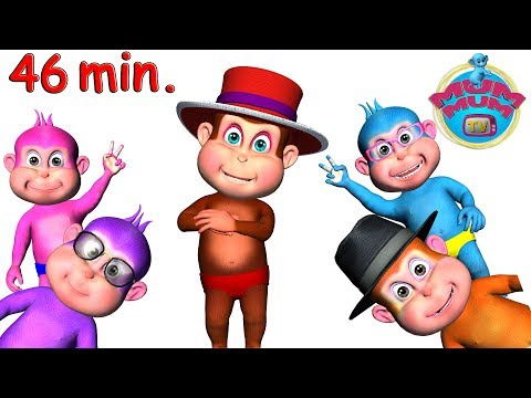 five-little-monkeys-jumping-on-the-bed---wheels-on-the-bus-nursery-rhymes-collection