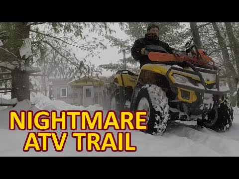 Nightmare ATV Trail Revisit - At my Off Grid Cabin