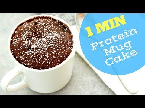1 Minute 4 Ingredient Chocolate Banana Protein Mug Cake Healthy Dessert