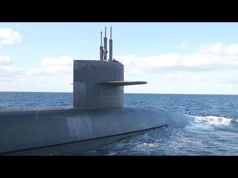 USS Wyoming (SSBN 742) on Patrol in the Atlantic (4K)
