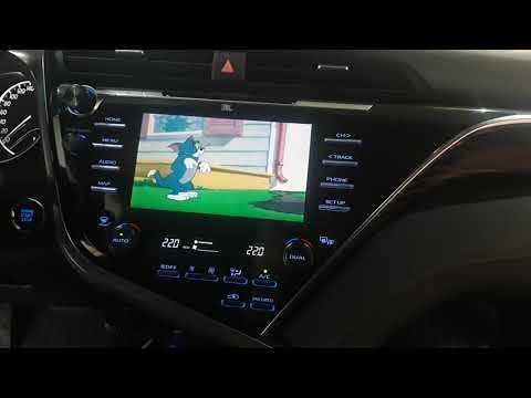 Тойота Камри 70 с Андроид на штатном мониторе и Яндекс Навигатор