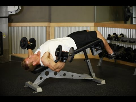 Decline Dumbbell Flyes Workout Videos Chest Workout Youtube