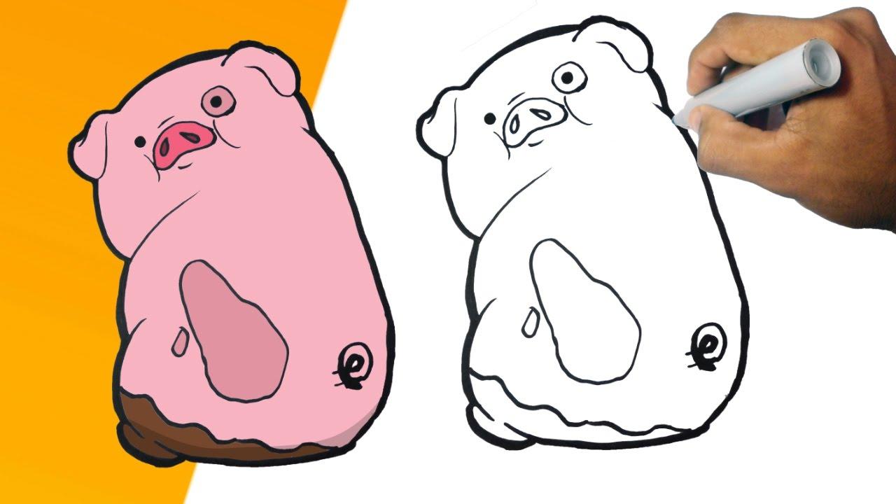 Pato Gravity Falls Para Colorear: Como Dibujar A PATO (Gravity Falls) Paso A Paso