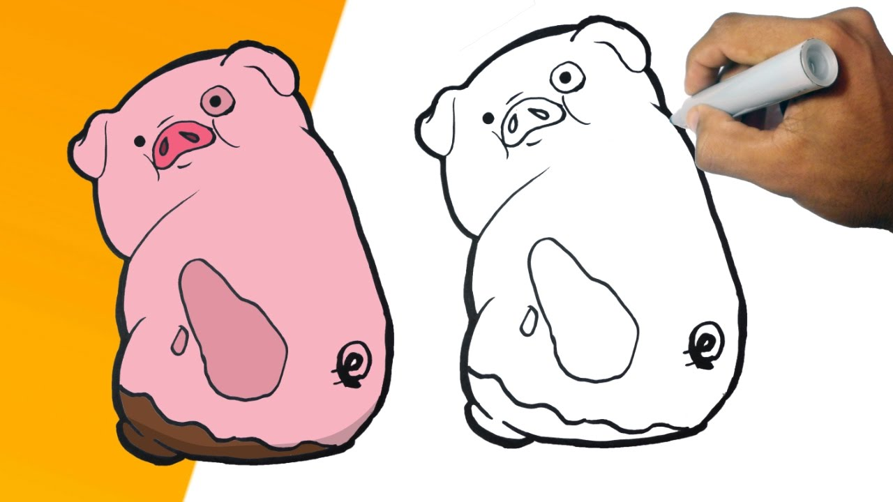 Mabel Y Pato Para Colorear: Como Dibujar A PATO (Gravity Falls) Paso A Paso