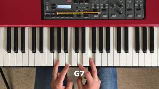 How to work out the chords to a song on the piano