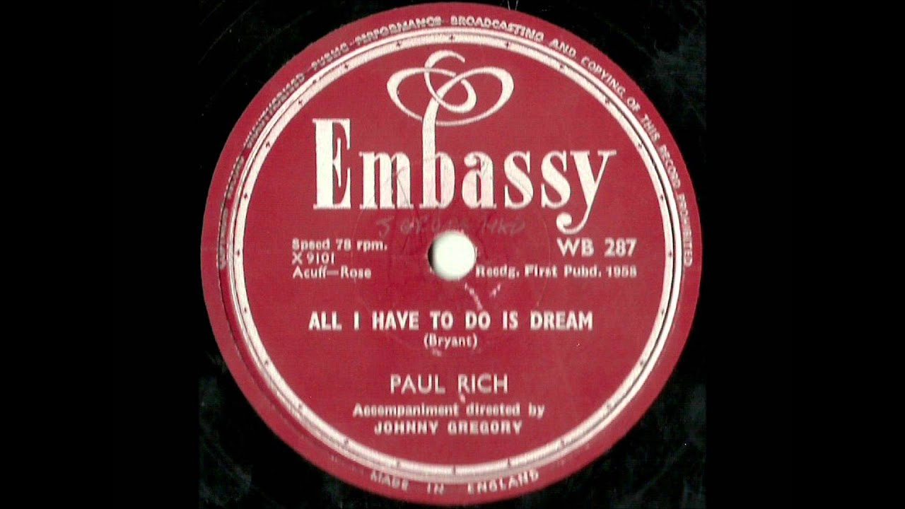 45cat - Paul Rich - Witch Doctor / All I Have To Do Is Dream
