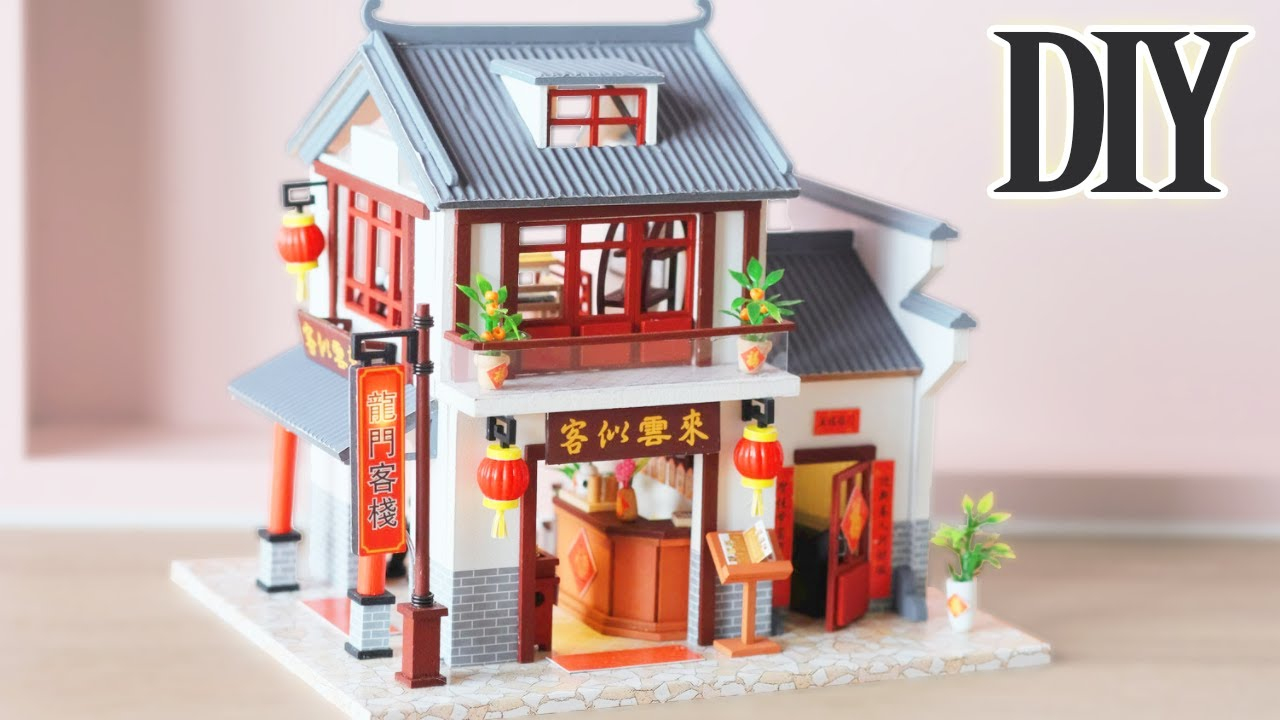 DIY Miniature Dollhouse Kit || Dragon Gate Inn - Miniature Land
