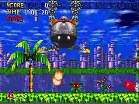 Retro Sonic (No Rings!!) Knux + Sonic Vs EggGarden Boss