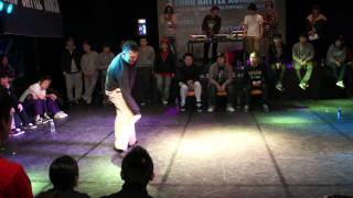 Euro battle Korea Popping 2012 semi final boogaloo kin vs hozin