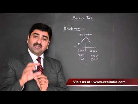 Service Tax : Abatement