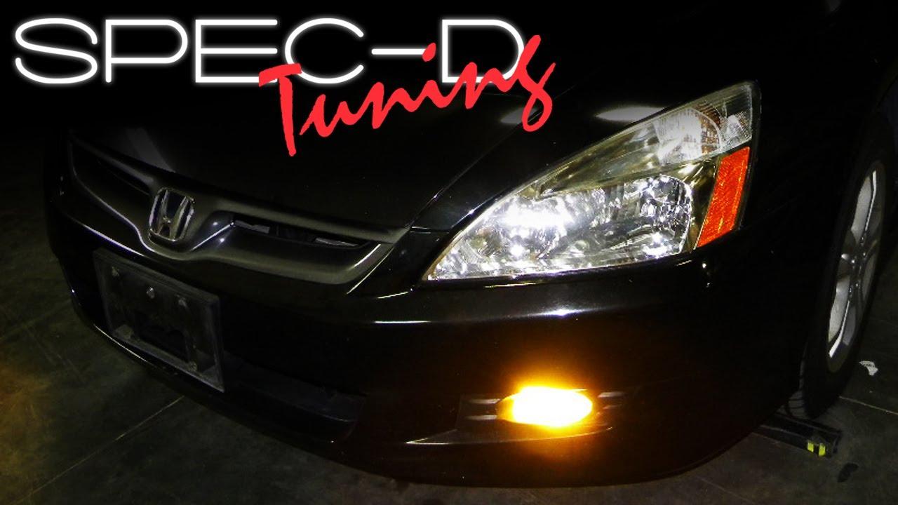 medium resolution of specdtuning installation video 2006 2007 honda accord 2 door coupe fog light kit youtube