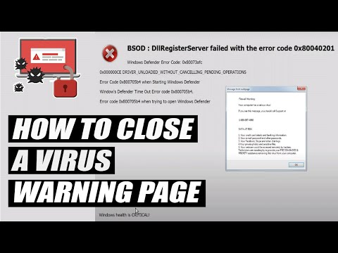 How To Close A Virus Warning Web Page