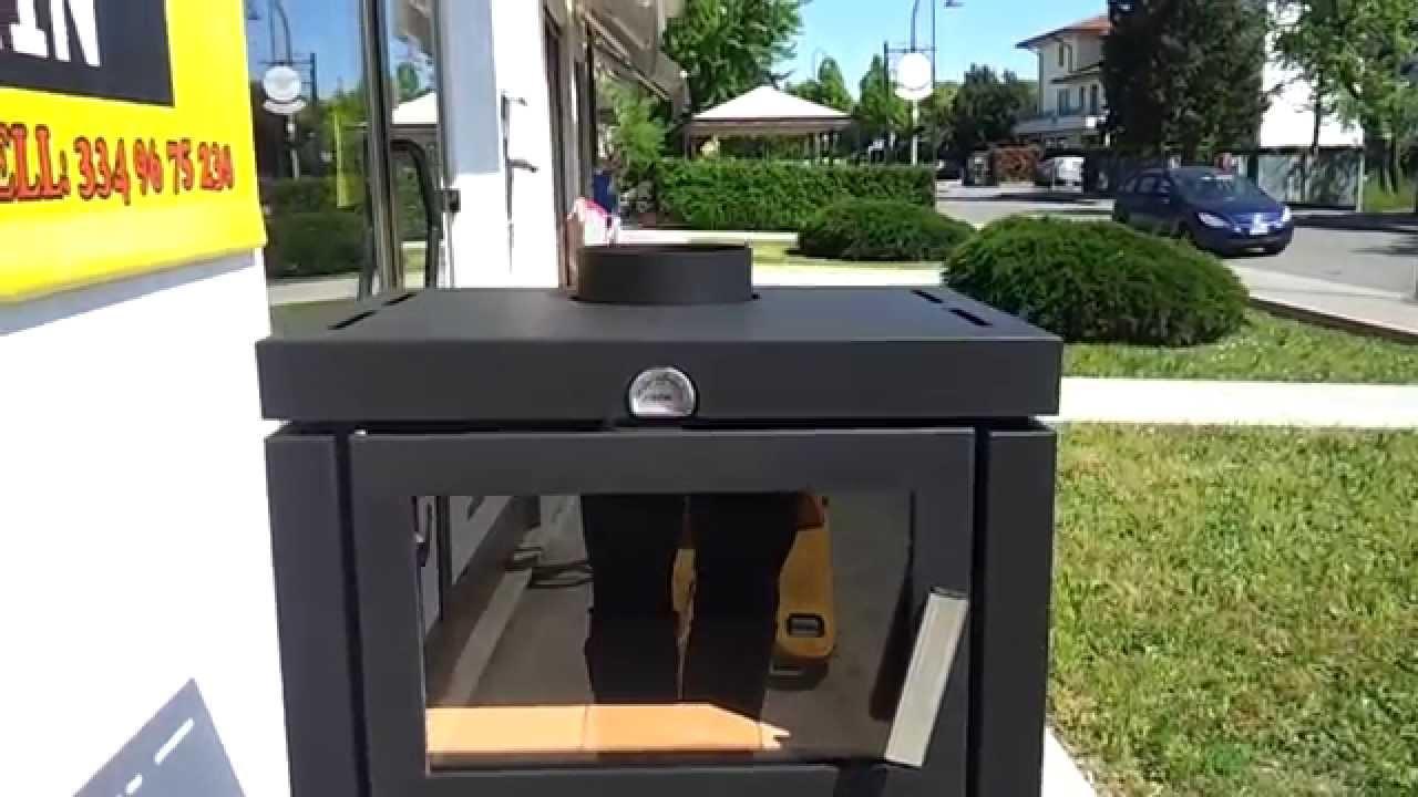 Stufa legna modello quadra1100 con forno da 12 5 kw di - Stufa a pellet con forno prezzi ...