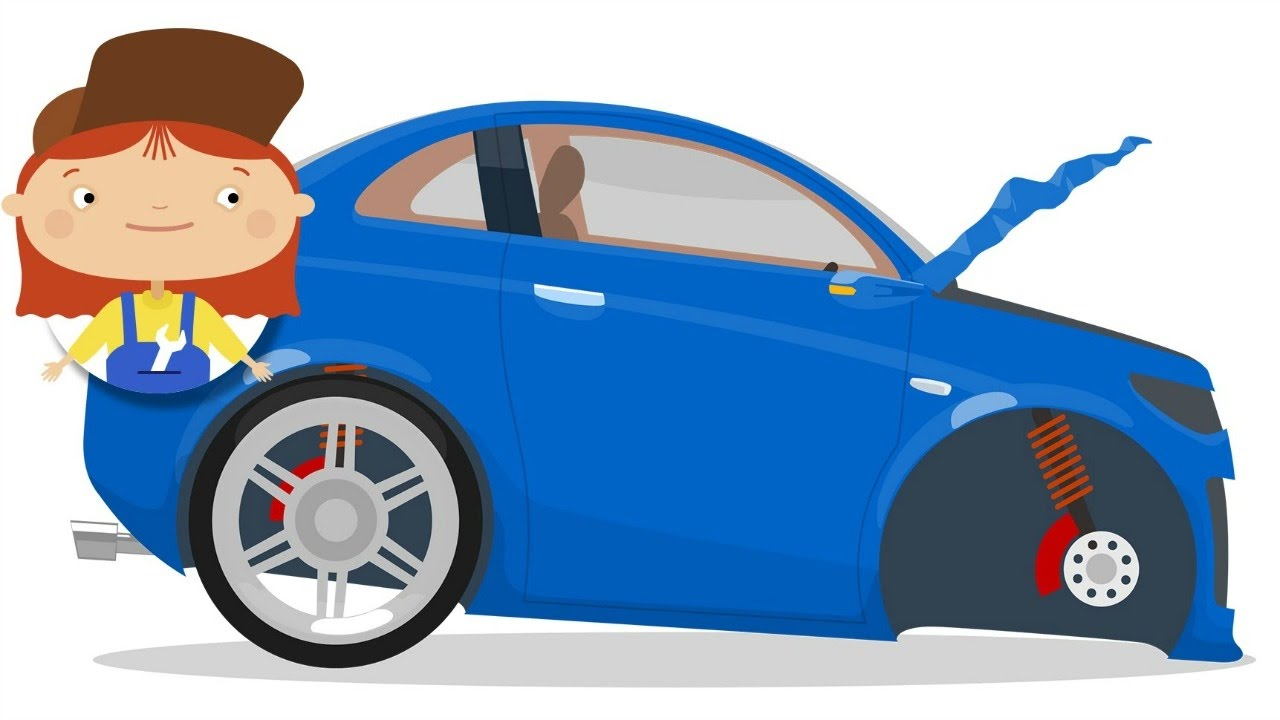 Doctor McWheelie - Car cartoon. A blue car for kids.