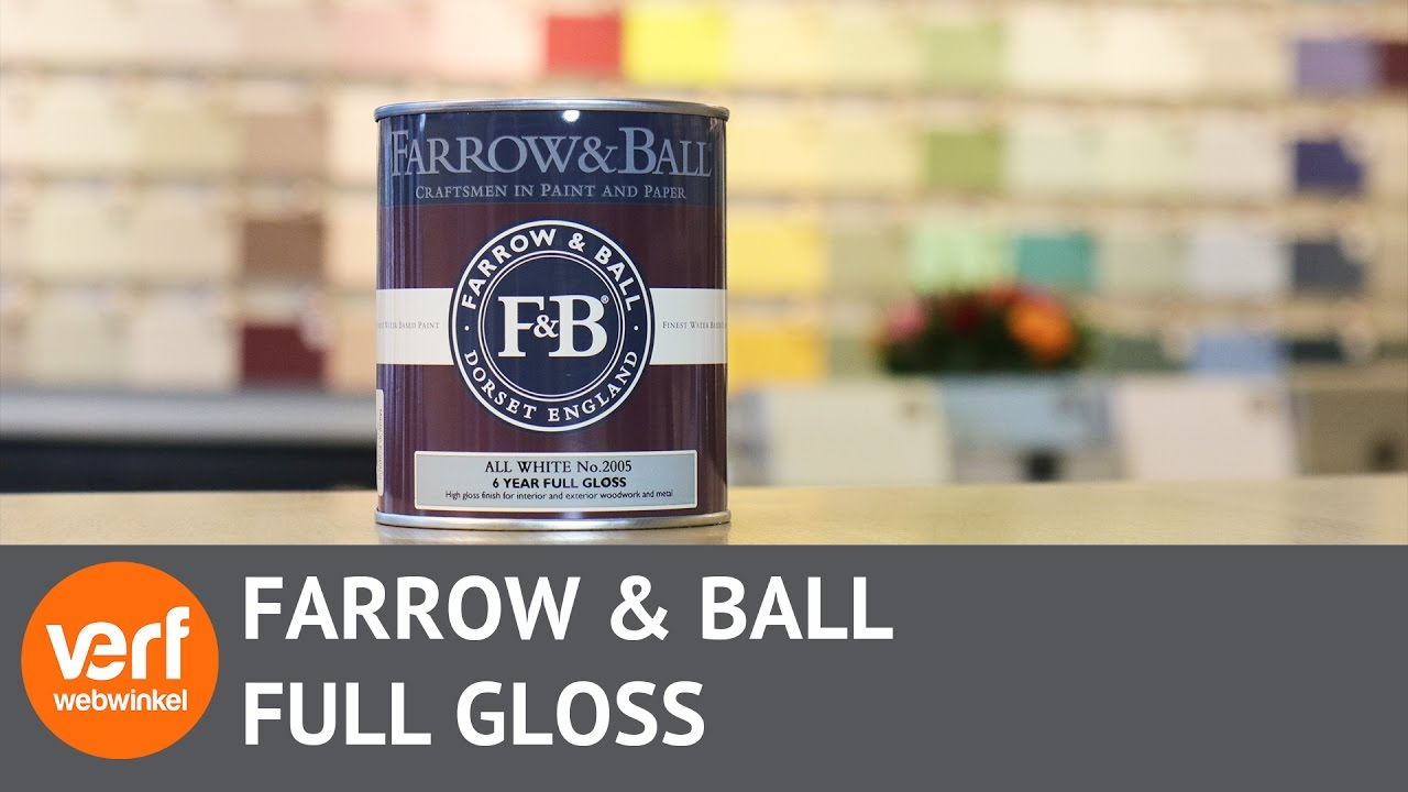 Kleurenwaaier Farrow And Ball Watergedragen Hoogglanslak Farrow Ball Full Gloss