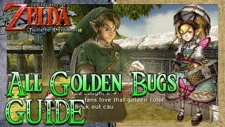 All Golden Bugs GUIDE! - The Legend of Zelda: Twilight Princess HD