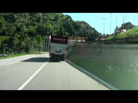 Driving from Brig to Luzern Switzerland/ Realspeed