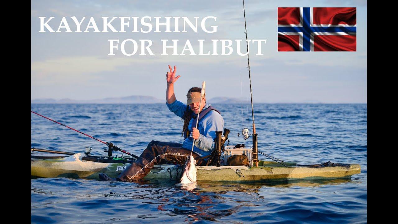 Kayakfishing in Roan  Norway  Halibuts from kayak