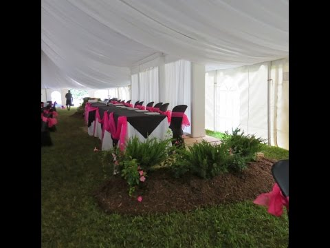 flower expressions tara tent and party rentals wedding tents and decorating ideas youtube. Black Bedroom Furniture Sets. Home Design Ideas