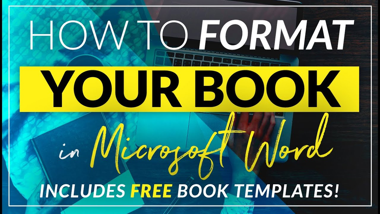 how to format a book for print in ms word a step by step tutorial to book design youtube
