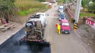 Se inicia asfaltado de la carretera turística a la zona de Conchucos