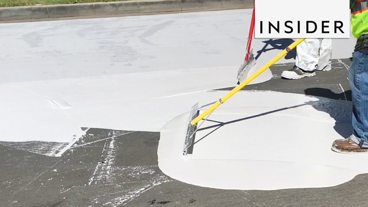 Los Angeles is spending $40,000 per mile to paint streets white