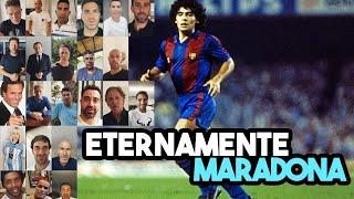 Richy Castellanos reúne a 156 celebridades para felicitar a Diego A. Maradona en su 60 cumpleaños.