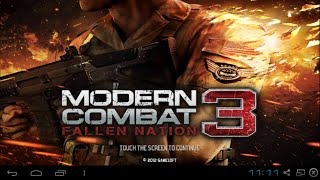 Modern Combat 3 - gameplay no PC com BlueStacks (noob mode on)