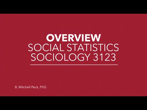 Social Statistics - Overview: Social Statistics