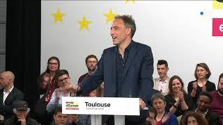 Premier meeting de Raphaël Glucksmann à Toulouse