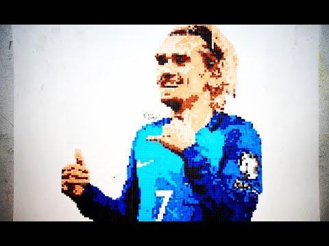 Pixel Art Antoine Griezmann