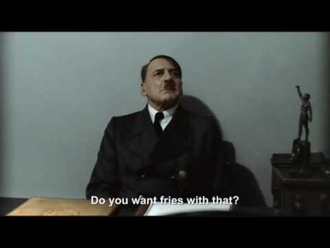 "Hitler is asked ""Do you want fries with that?"""