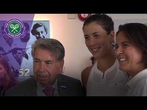 Garbiñe Muguruza and the Spanish champions of Wimbledon