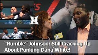 "UFC's Anthony ""Rumble"" Johnson On The Instant-Classic Jon Jones Staredown That Punk'd Dana White"