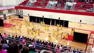 Robert E Lee High School, Southern Belles Drill Team (Crowd Pleasers Dance Competition 02/22/2014)