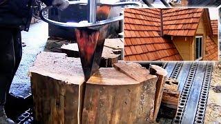 Proces produkcji gontów drewnianych. Technologia