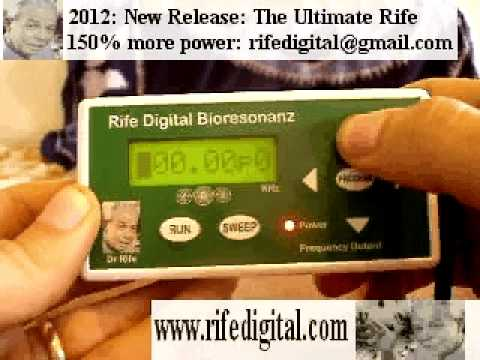 what does the rife machine cure