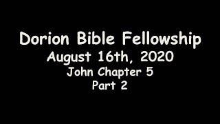 August 16th, 2020-Pastor Don Shaver (Dorion Bible Fellowship)
