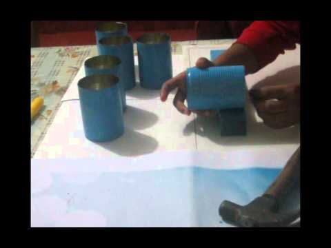 Porta cubiertos y porta cucharas reciclaje youtube for Porta cucharas cocina