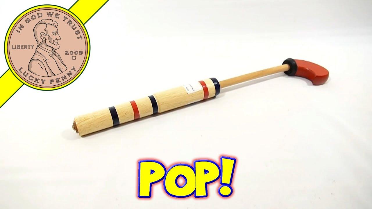 wooden cork pop gun classic children's toy