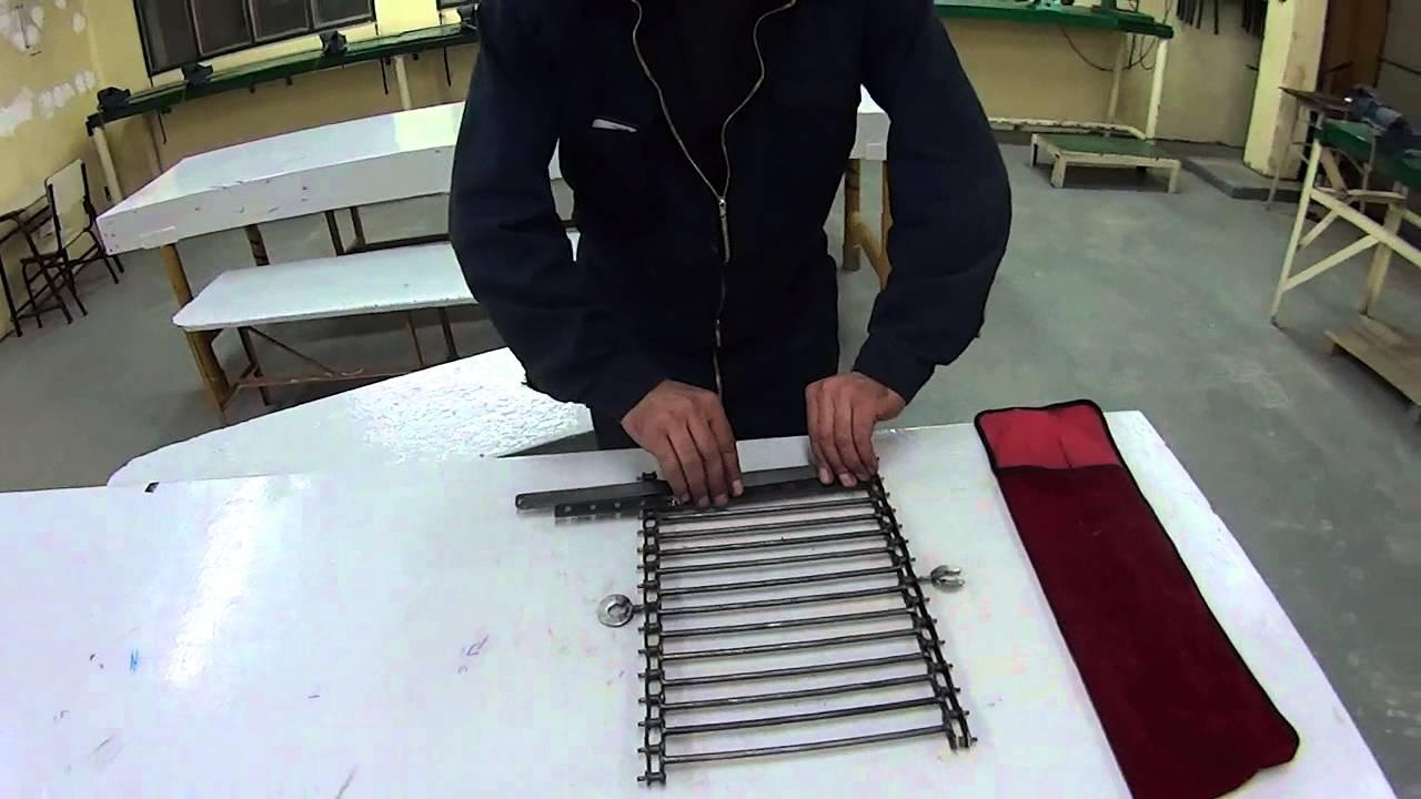 parrilla hecha con cadena