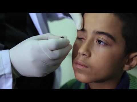 (فيلم العين الصناعية) مشروع تركيب العين الصناعية بتمويل كريم من معالي الشيخ نهيان بن مبارك آل نهيان/ قطاع غزة