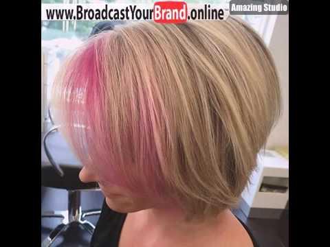 Blonde Bob With Pin Peekaboo Highlights In Bangs Style Youtube