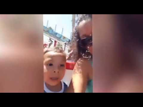 WHAT THE HELL! Little boy freaks out on kiddie roller coaster