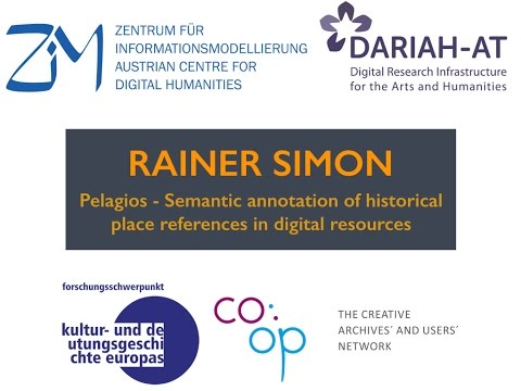 Rainer Simon: Pelagios - Semantic annotation of historical place references