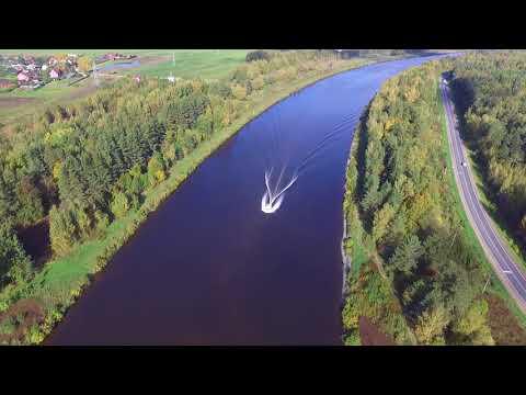 Канал имени Москвы с птичьего полёта (Дмитровский район)