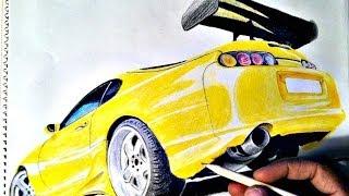 HOW TO DRAW: Car (Toyota Supra)