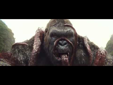Kong Skull Island - Kong Battles Kraken And Eats IT - Movie Clip - HD