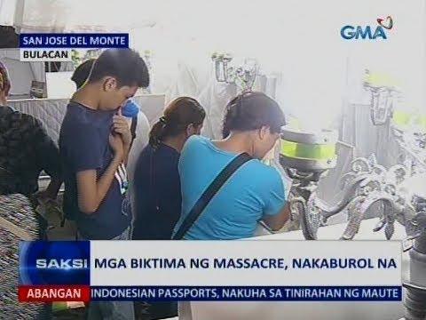 Saksi: Mga biktima ng massacre, nakaburol na