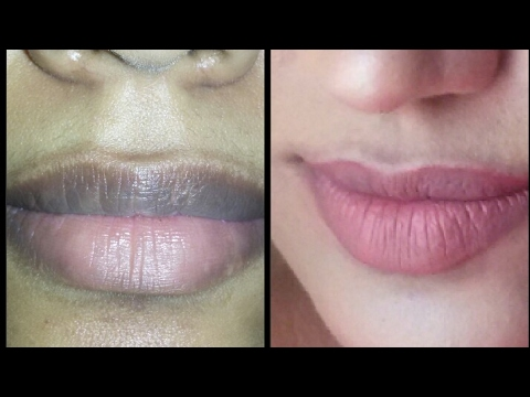How to apply nude lipstick on pigmented dark lips